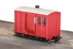 Peco GR-530UR GVT 4-wheel brake coach, plain red, OO-9